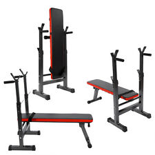 Folding Weight Bench & Weight Rack Adjustable Incline Decline Home Gym Bench UK