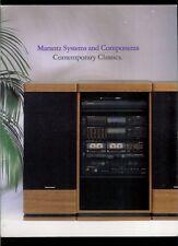 Rare Vintage Marantz Contemporary Classics Audio Systems Dealer Brochure Catalog