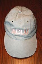 Vintage ACLU American Civil Liberties Union Baseball Cap Leather Claspback