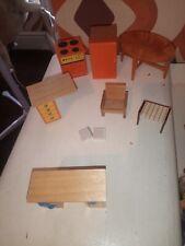 Paquete De Muebles Vintage LUNDBY casa de muñecas cocina Unidad Naranja Tabla Etc.
