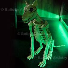 "29"" Halloween Life Size Skeleton Sitting Spike Bones Dog Poseable Decoration"