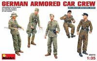 German Armoured Car Crew Soldier WWII era (5 Figures) 1/35 MiniArt 35072