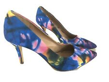 BCBG Pumps Heels 7.5 Watercolor Pointed Toe Closed Toe Stiletto Cocktail Spring