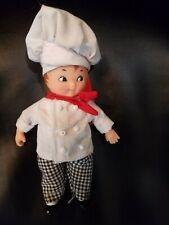 "All Plastic/Vinyl Chef DOLL & Dress Boy & Stand 6"" B"