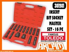TOLEDO 301981 - INSERT BIT SOCKET MASTER SET - 16 PC - METRIC HEX TORX E-STAR