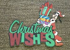 Disney page title Christmas Wishes Goofy printed scrapbook page die cut