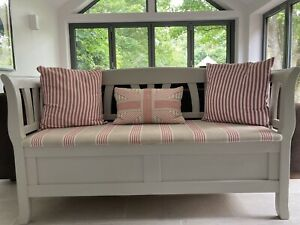 Pew Monks Bench Settle  F&B Purbeck Stone for Kitchen or Hall.