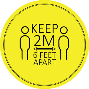 Social Distancing Floor Sticker/Decals - Anti Slip, Keep Apart Stickers 2M D1