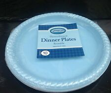 20 x plastic light blue  reusable 23 cm  plate for all occasions