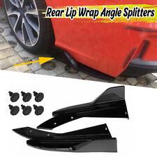 Glossy Rear Bumper Spoiler Lip Splitter Diffuser Body Kit BMW LEXUS Ford AUDI