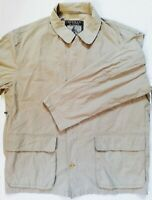 HERMAN & SONS Jacket Nice Men's Rare Beige Coat Size (XXL) Made With THE FINEST