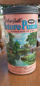 """Vint Series 203 Deluxe Guild """"Quiet Water"""" Picture Puzzle 340 Piece 18"""" x 15 ½"""""""