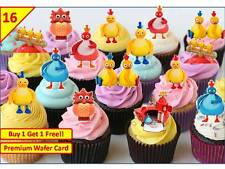 32 Twirlywoos Birthday Cup Cake Fairy Party Toppers Edible STAND UP Decorations