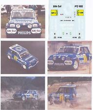 Decals 1/43e Renault 5 Maxi S;ilk C.ut G.Barreras Chat Terre 1988