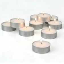 Tea Light Candles 4 hours Burn White Unscented, Tealights,