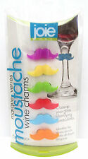 Joie Moustache Wine Glass Charms Set of 6