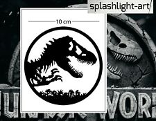 Logotipo de Jurassic Vinilo Autoadhesivo con Symbol 10 Cm Negro para Laptop, etc Parque De Pared De Coche
