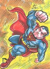 2014 DC Comics Epic Battles Color Sketch Card Superman Elvin A. Hernandez! RARE!