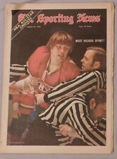 March 1972 The Sporting News Hockey Vicious Sport Marc Tardif Montreal Canadiens