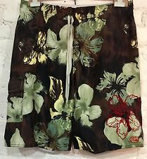 Quiksilver Silver Edition Boardshorts Size 36 Multicolor Floral Shorts Surf Swim
