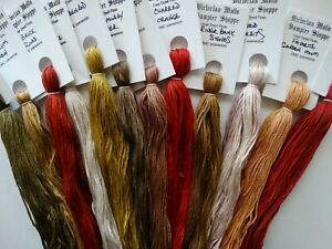 Primitives for August  over dyed floss set, 12 skeins, 20 yards each