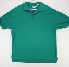 LEVI'S Vtg 90s 80s TEAL GREEN SHORT SLEEVE POLO BUTTON SHIRT MEN'S XL