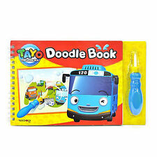 Tayo The Little Bus Doodle Book Drawing with Water Brush