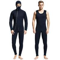 Men 5mm Spearfishing Neoprene Wetsuit Scuba Diving Suit Hoodie Snorkeling Suits