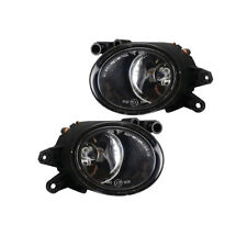 Left + Right Front Halogen Fog Lights Fog Lamps For AUDI A4 B6 01-05 RS4 06-08