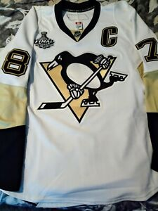 2009 Stanley Cup Finals TI Pittsburgh Penguins Reebok Edge 1.0 Crosby Jersey 56