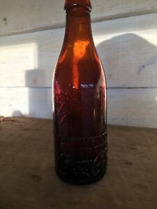 amber straight sided coca cola bottle Greenwood MISS wrights Bottling works