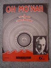 Oh Mo'nah, Vintage Sheet Music, Ted Weems, Country Washburn