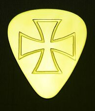 IRON CROSS - Solid Brass Guitar Pick, Acoustic, Electric, Bass
