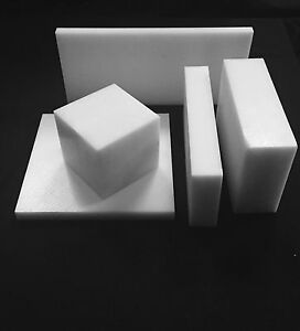 """2.0"""" Natural Delrin Acetal Plastic Sheet - Priced Per Square Foot- Cut to Size!"""
