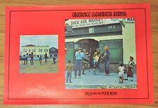 1970 CREDENCE CLEARWATER REVIVAL CCR Vintage BOOK COVER Poster Willy Poor Boy LP