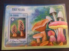 St Thomas & Prince Island 2014 Fungi Mushrooms MS MNH UM unmounted mint