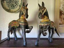 Pair of 19th Century wooden Carved Horses