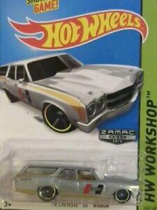 2014 Hot Wheels WALMART ONLY ZAMAC 010 '70 CHEVELLE SS WAGON 1:64