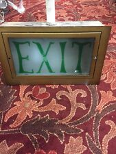 Vintage Exit Sign With Box