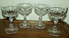 Lot of 4 Vintage Tiffin Franciscan Glass Manchester Champagne Tall Sherbet #2