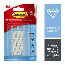 3m Command Decorating Strips Hooks Clear Wall Hanging Fairy - Total of 40 Clips