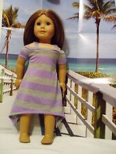 """Dress with Peek-a-Boo sleeves Fits American Girl 18"""" Doll Clothes Lavender Gray"""
