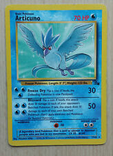 Articuno 17/62 Pokemon Card Rare Fossil Set MINT CONDITION go ed bw 1st