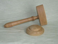 GAVEL & BLOCK STYLE OAK WOOD FREEMASON MASONIC GAVEL AUCTIONEER WEDDING