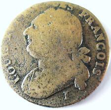 LOUIS XVI .12 DENIERS CONSTITUTION .1792 .I.CLERMONT- FERRAND .POINT HAUT .I.