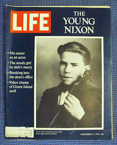 vintage LIFE Magazine November 6, 1970 - THE YOUNG NIXON