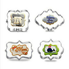 4pc Blessing Wedding Frame Cookie Cutters 3D Biscuit Sugarcraft Kitchen Mould SN