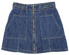 Faldas de niña de 2 a 16 años azul 100% algodón