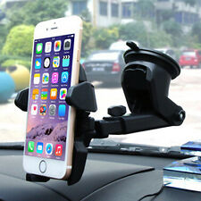 Universal Easy One Touch 360° Car Mount Holder Suction for GPS Cell Phones Black
