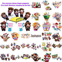 Familie Fingerpuppen Tuch Puppe Baby Bildungs Hand Toy Story Kinder Party Au